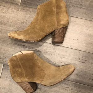 Club Monaco Brooklyn Suede Taupe Booties